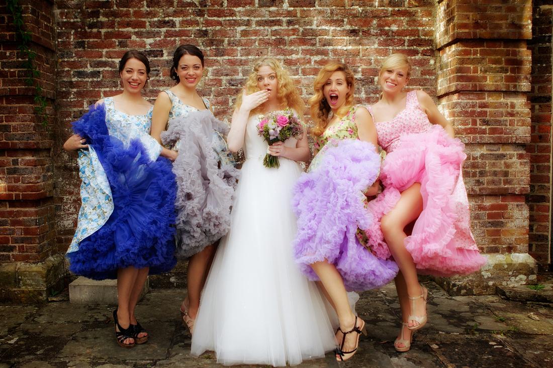 satureyes under the vintage veil wedding bridesmaids bride